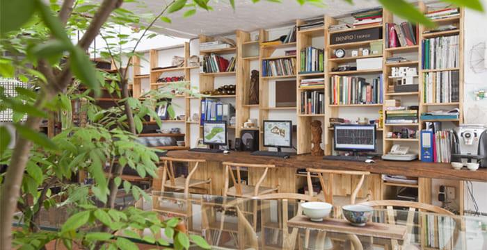 Mẫu nhà ở kết hợp văn phòng chỉ 40m2 vô cùng độc đáo